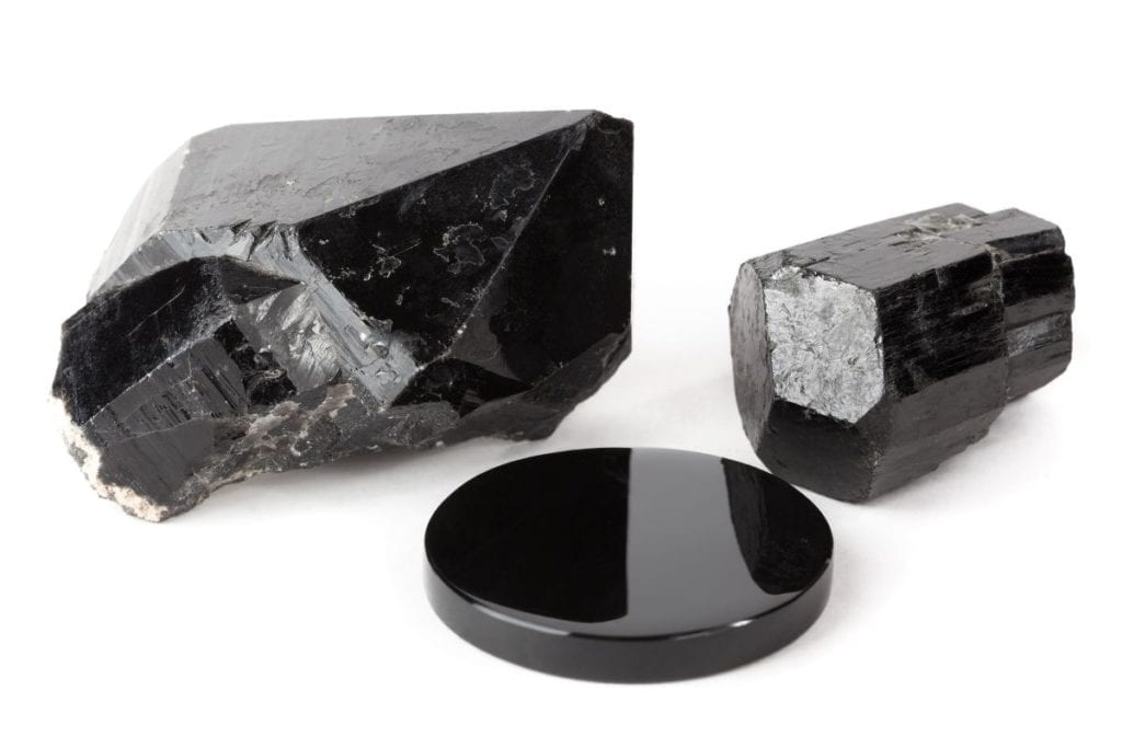 Common crystals for beginners to start their collection with: Black Tourmaline